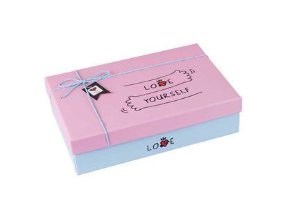 caja-de-regalo-8-7-cm-x-29-2-cm-x-20-8-cm-azul-con-tapa-rosada-love-yourself-7701016709811