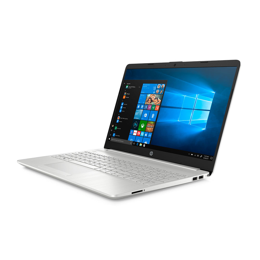 """Computador portátil hp 15-dw0003la 15.6"""", plata"""
