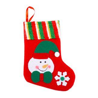 bota-navidena-con-cara-de-hombre-de-nieve-rojo-y-verde-y-copo-de-nieve-20-cm-7701016721448