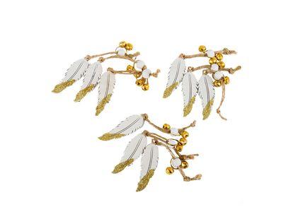 plumas-5-5-cm-por-9-unidades-blanco-con-dorado-7701016463768