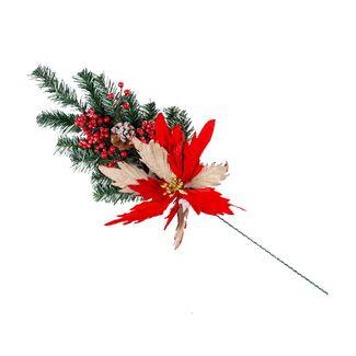 rama-navidena-76-cm-poinsettia-rojo-natural-con-frutos-rojos-7701016720205