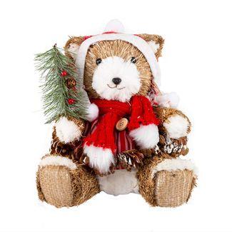 oso-21-5-cm-natural-sentado-con-vestido-gorro-bufanda-espigas-y-pinas-7701016728355