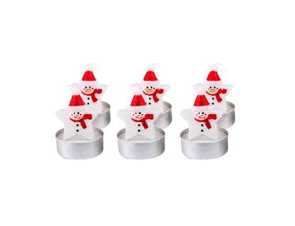 set-de-velas-navidenas-diseno-hombre-de-nieve-estrella-por-6-unidades-7701016717175