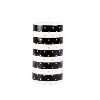 vela-navidena-14-4-cm-blanco-y-negro-con-estrellas-7701016717342
