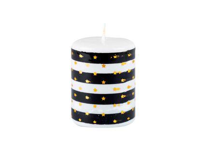 vela-navidena-9-cm-blanco-y-negro-con-estrellas-7701016717359