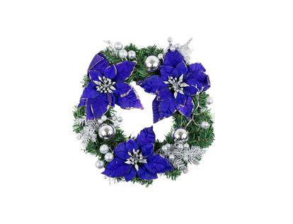 corona-35-cm-poinsettias-azul-noche-esferas-plata-7701016721127