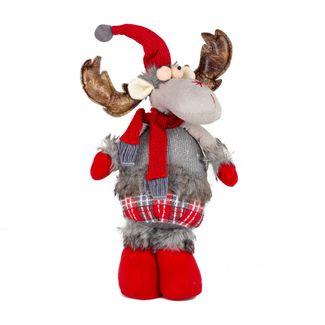 reno-navideno-42-cm-de-pie-gris-rojo-con-gorro-rojo-7701016749091