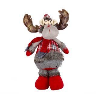 reno-navideno-44-cm-de-pie-gris-rojo-con-gorro-multicolor-7701016749152