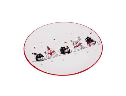 plato-navideno-blanco-diseno-gatos-con-bufanda-19-5-cm-7701016737753