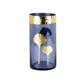 jarron-azul-con-hojas-doradas-20-cm-7701016762397