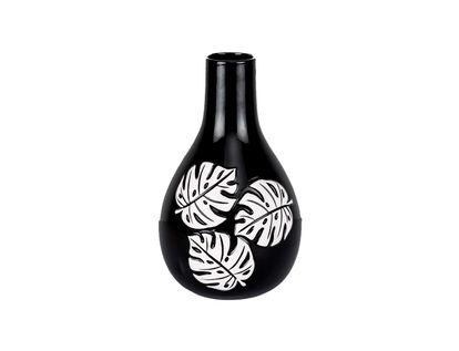 florero-negro-con-hojas-blancas-31-cm-7701016762410