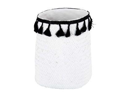 recipiente-de-multiusos-decorativo-21-cm-blanco-con-borlas-negras-7701016745802