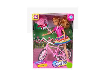 muneca-joyful-con-bicicleta-con-casco-7701016782548