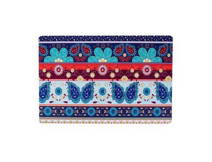 Tapete-con-diseño-de-flores-y-franjas-azules-y-naranjas-40-x-60-cm