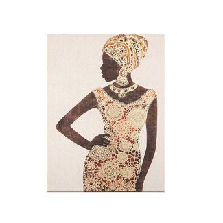 cuadro-canvas-diseno-africana-con-vestido-de-mandalas-doradas-naranja-7701016797146
