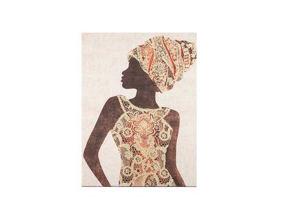 cuadro-canvas-diseno-africana-con-vestido-de-flores-doradas-naranja-7701016797184