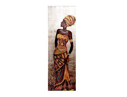 cuadro-canvas-diseno-africana-con-vestido-naranja-rombos-y-triangulos-7701016796859