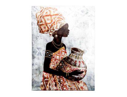 cuadro-canvas-verde-diseno-africana-con-vestido-multicolor-y-jarron-gris-7701016796897