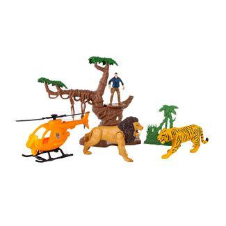 set-animales-salvajes-con-helicoptero-y-arbol-4893808492056