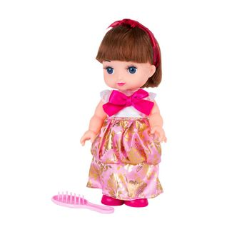 muneca-25-cm-vestido-blanco-rosado-con-mono-fucsia-7701016754262