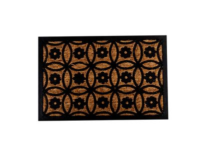 tapete-diseno-circulos-entrelazados-con-flores-marron-negro-7701016768764