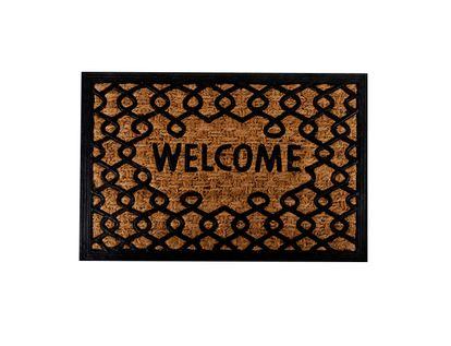 tapete-diseno-welcome-anillos-entrelazados-marron-negro-7701016768689