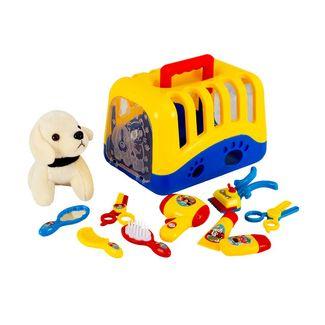 set-de-veterinaria-11-piezas-amarillo-azul-con-mascota-7701016764582