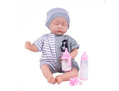 bebe-con-tetero-y-vestido-gris-de-rayas-7701016770033