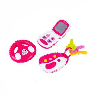 set-primeros-sonidos-x-3-piezas-blanco-con-rosado-7701016110716