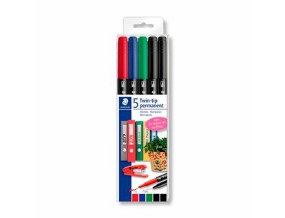 marcadores-permanentes-staedtler-twin-tip-por-5-unidades-4007817042922