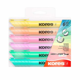 resaltadores-kores-high-liner-plus-color-pastel-por-6-unidades-9023800360601