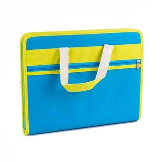 archivador-con-fuelle-a4-de-lona-azul-con-verde-1-7701016935586