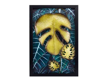 cuadro-diseno-hojas-monstera-verde-en-marco-de-madera-negro-7701016816717