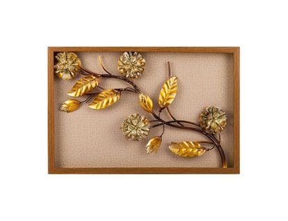 cuadro-diseno-hojas-y-flores-doradas-en-aluminio-en-marco-de-madera-natural-7701016816724
