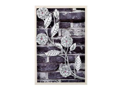 cuadro-diseno-hojas-y-flores-plateadas-en-aluminio-en-marco-de-madera-7701016816731