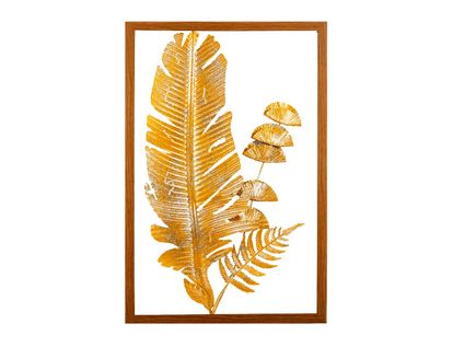 cuadro-diseno-hoja-en-aluminio-dorada-con-marco-de-madera-7701016816755