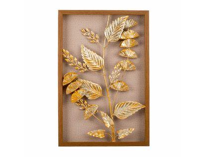 cuadro-diseno-rama-con-hojas-en-aluminio-doradas-con-marco-de-madera-7701016816762