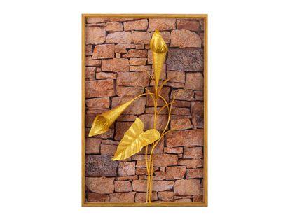 cuadro-diseno-de-flor-en-aluminio-alcatraz-dorada-marco-de-madera-7701016816779