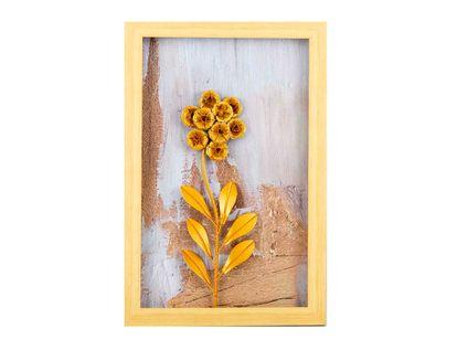 cuadro-diseno-de-flor-en-aluminio-dorada-marco-de-madera-natural-7701016816786