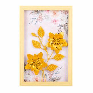 cuadro-diseno-hojas-y-flores-en-alumino-doradas-marco-de-madera-7701016816793