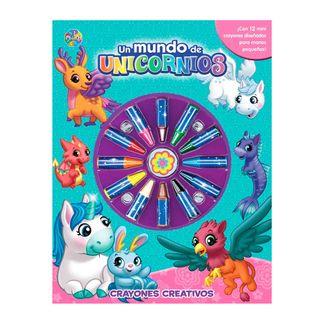 un-mundo-de-unicornios-mas-12-crayones-creativos-9782764347164