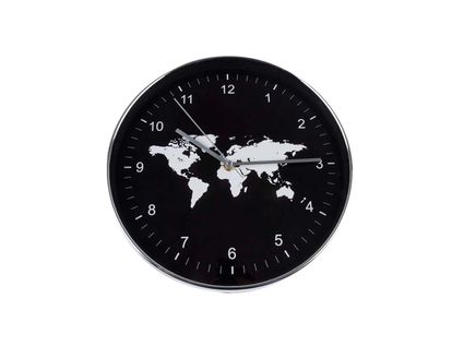 reloj-de-pared-29-5-cm-circular-mapamundi-negro-borde-plata-6034180018733