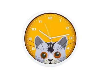 reloj-de-pared-38-cm-circular-gato-con-ojos-moviles-blanco-naranja-7701016856041