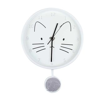 reloj-de-pared-28-cm-circular-gato-con-pendulo-blanco-7701016856072