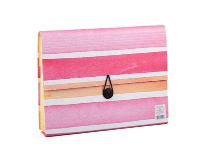 archivador-de-fuelle-13-bolsillos-diseno-rayas-rosa-1-7701016810418