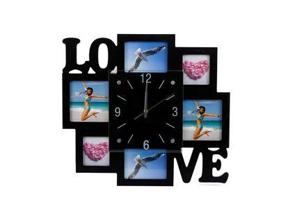reloj-de-pared-con-portarretratos-6-fotos-love-negro-7701016828284