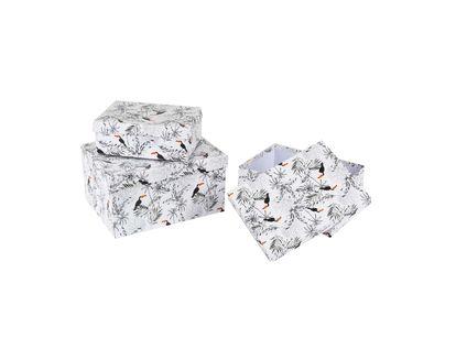 caja-de-regalo-x-3-con-hojas-y-tucanes-blanca-7701016867900