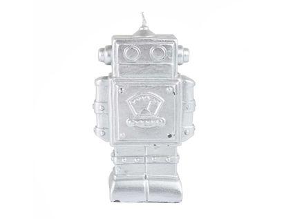 vela-decorativa-12-cm-robot-plata-7701016821858
