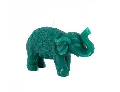 vela-decorativa-8-5-cm-elefante-verde-esmeralda-con-manta-7701016821964