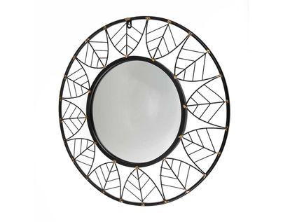 espejo-de-pared-circular-con-hojas-negro-pintas-doradas-7701016828581